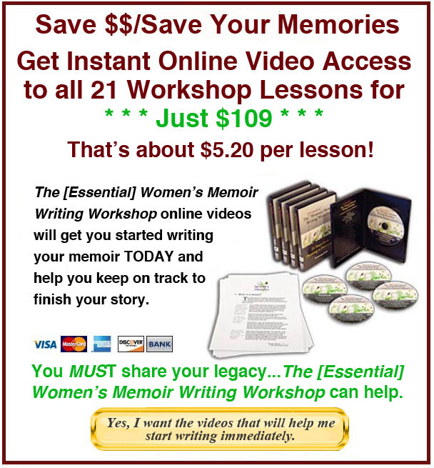 memoir writing classes A memoir writing class have you thought about writing your memoir but didn't know how to get started this classwill look at the excitement, hard work, and fun in.